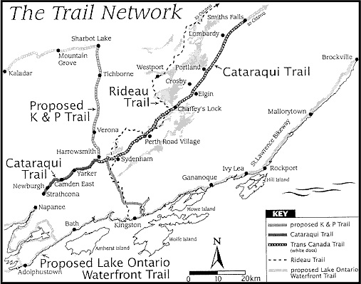 regional trail network cataraqui trail Ontario Motto the proposed network would consist of the lake ontario st lawrence river waterfront trail the cataraqui trail and the k p trail trailnetworkmap